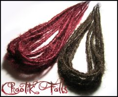 Auburn Red And Brown Synthetic Dreads by ChaotikFalls