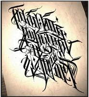 Calligraphy / on Russian language by Wator