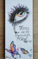 Tears are the showers to the soul by Monique-Art