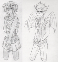 :Free Sketches: Loli + Joe by TheLostArts