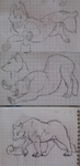 Some TFP-Ratchet Wolf doodles by MariaMarcuu