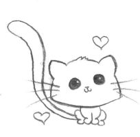 kawaii kitty loves you by WiccanTitanicgrrl