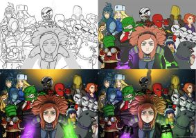 Mascots and Anons - Process by HenLP
