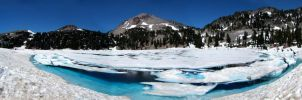 Melting Lake Lassen Park by Deborah-Valentine