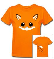 Fuzzy kawaii fox tee shirt by smarmy-clothes
