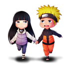 :NaruHina: Running together by KirCorn