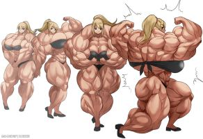 Samus Muscle Growth (Part 3: Level 9-12) by elee0228