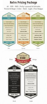 Retro Pricing Package Template by w4y