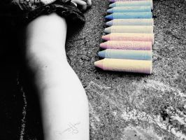 Chalk BW with Color by beanphotogi