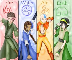Avatar Elements by Demoneyes14