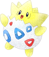 Togepi coloured by Sulfura