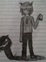 My made up Homestuck character (no name yet) by minizhirra