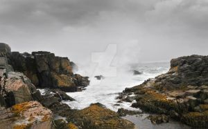 THE WAVES OF THE ROCK  CAPE BRETON ISLAND by lawrencebydesign