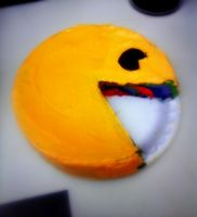 Pac Man Cake. by Human-Canvas