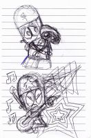Robot and WALL-E/ Robo Rockstar Sketch Dump by kartoonfanatic