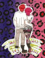 Sick Boy, Sick Girl by androidfink