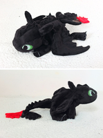 Toothless - updated plush design. by tiny-tea-party