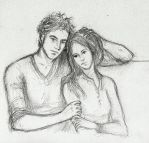 Book Edward and Bella Sketch by LittleSeaSparrow