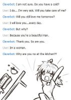 Cleverbot is clever by Kerokie