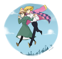 [Howl's moving castle] Merry-go-round of life by vanipy05