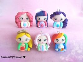 My Little Pony Chibi Necklace by LittleBitOfKawaii