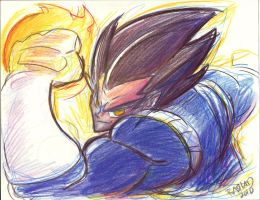 Prince of all Saiyans by kross29