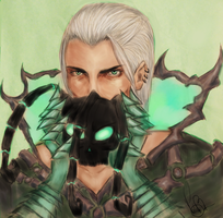 Unmasked human Thresh by Amerpoison