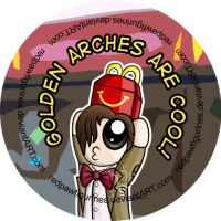 Eleven At McDonalds Badge by RedPawDesigns