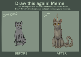 Draw This Again: Cat Edition by notifyneelix