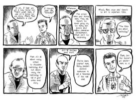 American Splendor featuring Andrew Garfield by strawmancomics