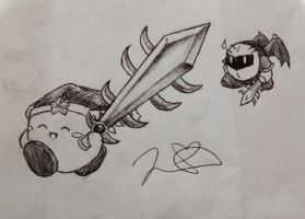 Meta Knight and the Ultra Sword by PikaKirby6595