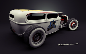 Ford Tudor Custom Hot rod 1929 by Yorzua