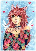 washi cat by pencil-butter