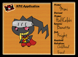 Mimi the Banette - NPC App by Joltimeon