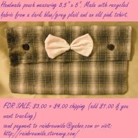 For Sale Blue Plaid Pouch by HieisQueen07