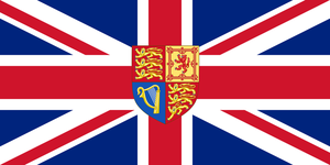 UK flag with Escutcheon by Rory-The-Lion