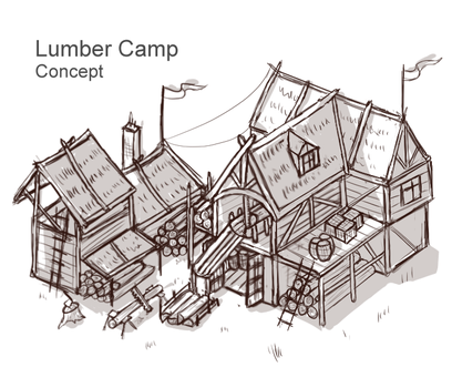 Lumber Camp Concept by Sun-Dragoness