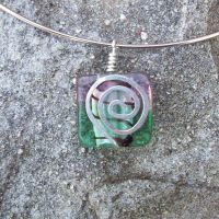 Glass Wirework Pendant 010 by DarkFireRaven
