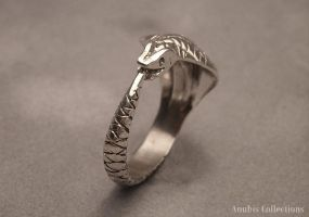 Ouroboros Ring by anubiscollections
