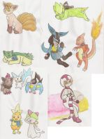 Watercolor Paint Practice 1 by Pikachu-And-Umbreon