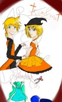 Trick and Treat :Rin and Len: by caseria5687