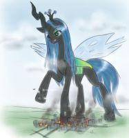 rise of queen cheeselegs by AlloyRabbit