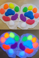 Rainbow UV pawpads by Monoyasha