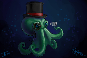 Mio-Ri Dapper Cthulu British Tea by RitheGuardian