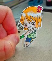 Nami Paper Child - I stole it first!!! by MadPandaKira