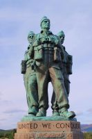 Royal Marine Commando Monument by Vincent-Malcolm