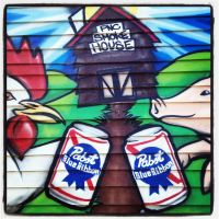 Chicken and Pig and PBR by wiebkefesch