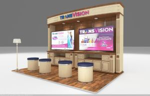 3D stand booth view A by hobigrafix