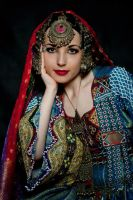 Afghan Girl- traditional afghan dress by Apsara-Stock