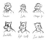 OC Bust Sketches by pikminpedia